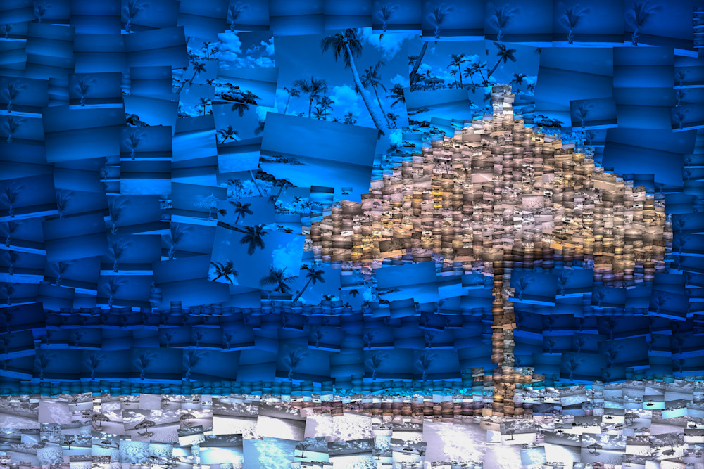 Aruba Umbrella | Photomosaic Photography