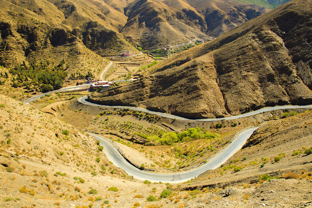 Atlas Mountains Winding Road | Mountain Landscape Photography Print