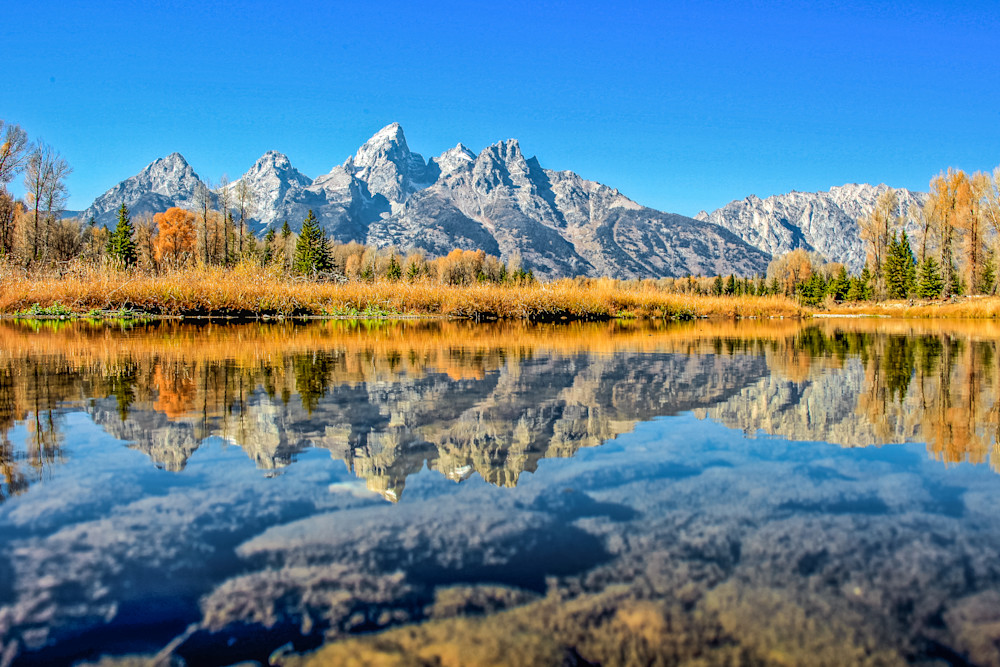 Wyoming Mountain Reflection II | Mountain Landscape Photography Print