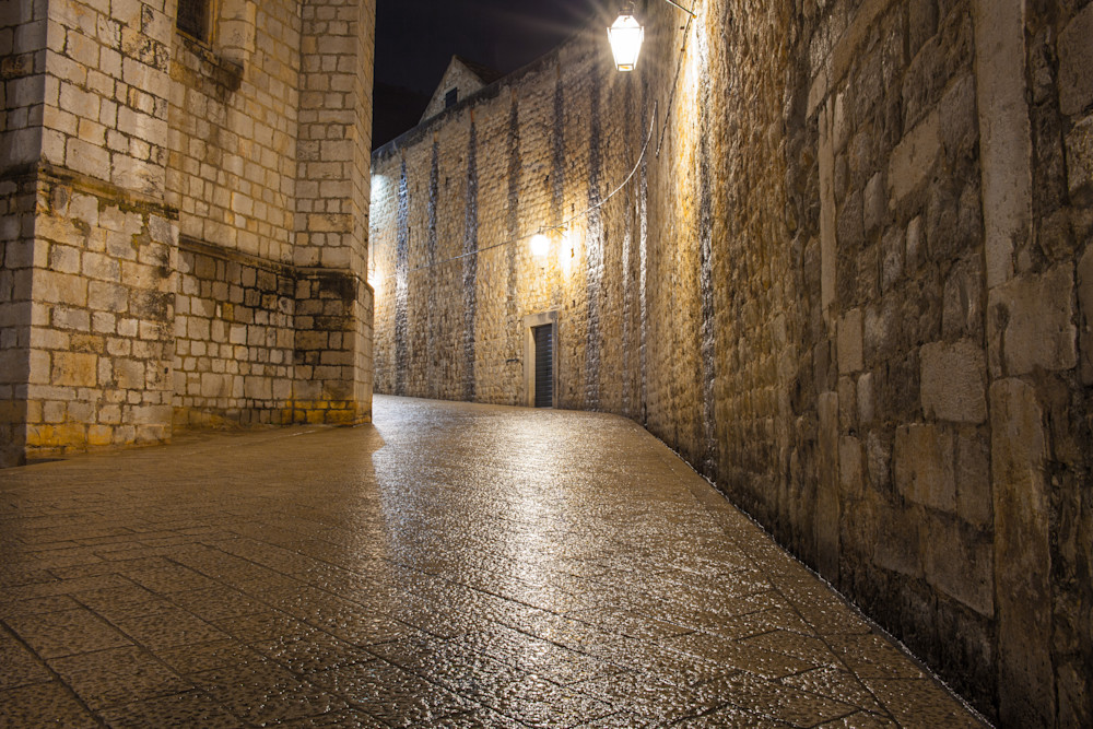 Dubrovnik Empty Street | Urban Art Photography Print