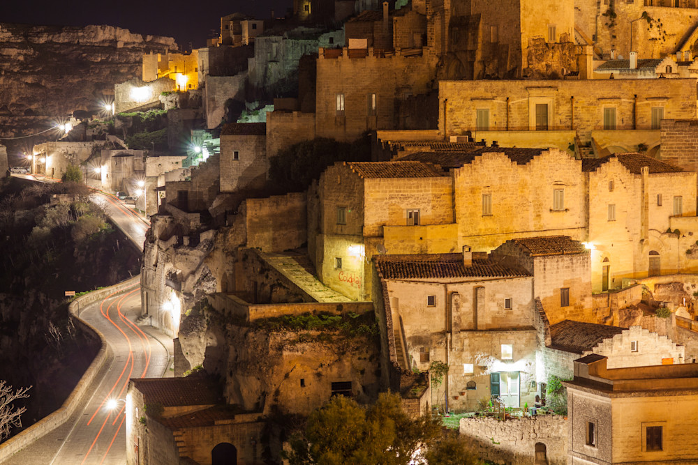 Matera Cliff Road | Travel Photography Print
