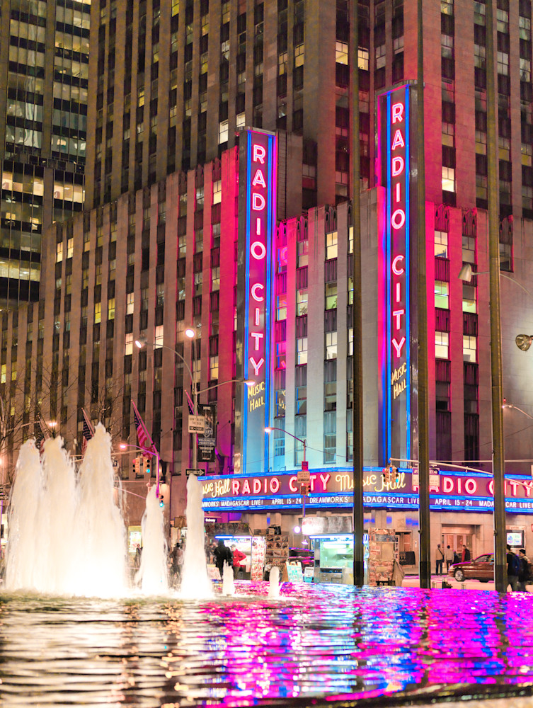 Radio City Music Hall Reflection | Cityscape Art Photography Print