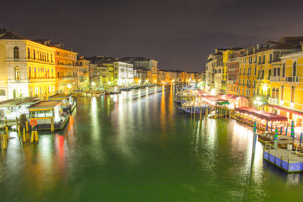 Grand Canal at Night | Cityscape Art Photography Print