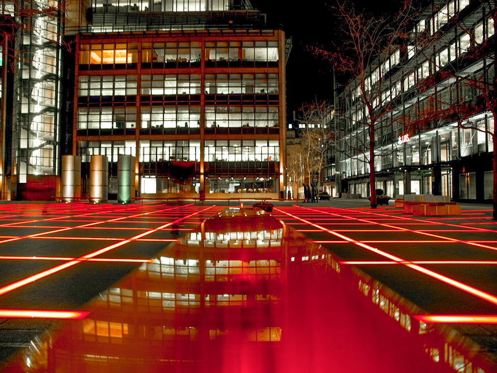 Finsbury in Red | London Art Photography Print