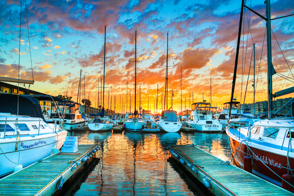 Marina Sunset Photography Art | Foretography