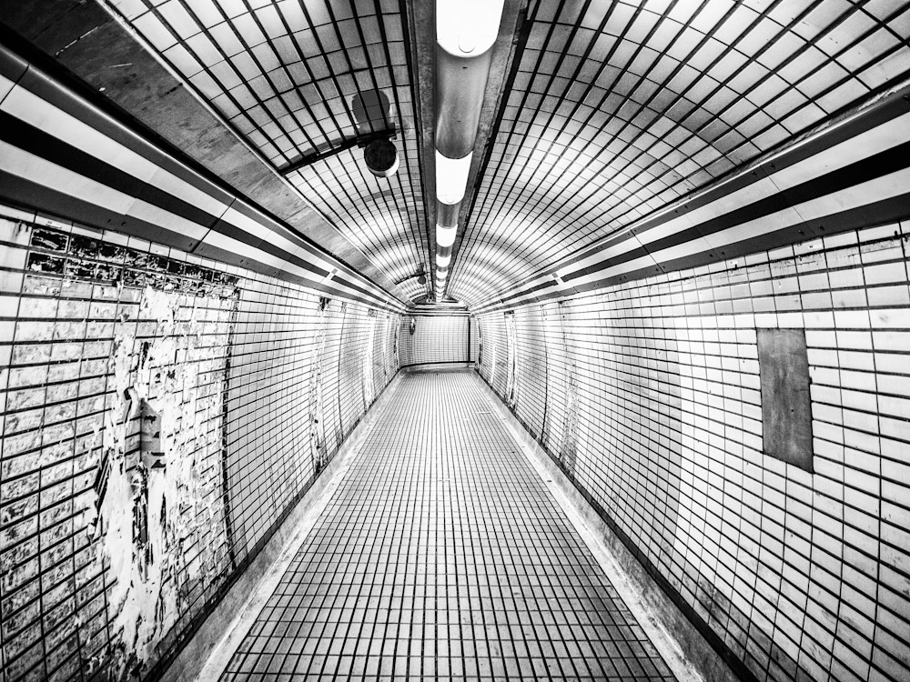 Late For The Tube | Black and White London Photography