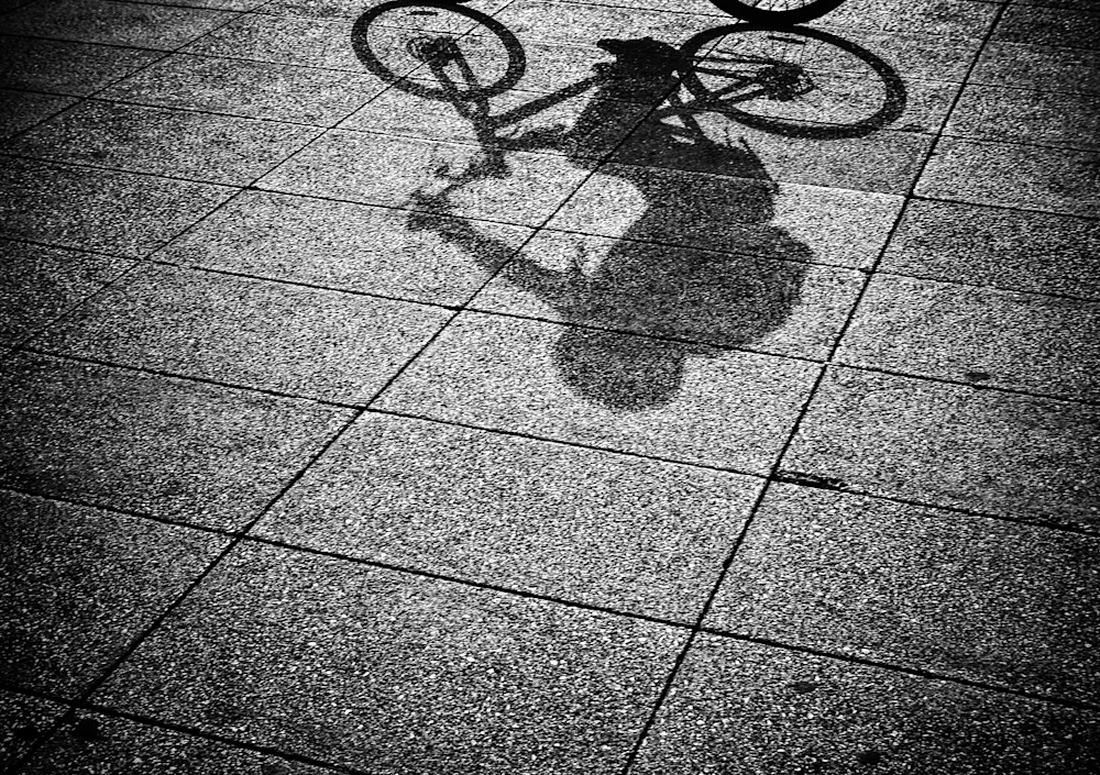 Shadow Biker | Black and White London Photography