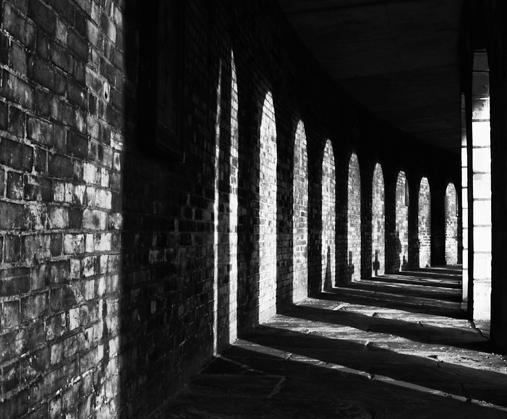 Brompton Cemetery Arcade | Black and White London Photography