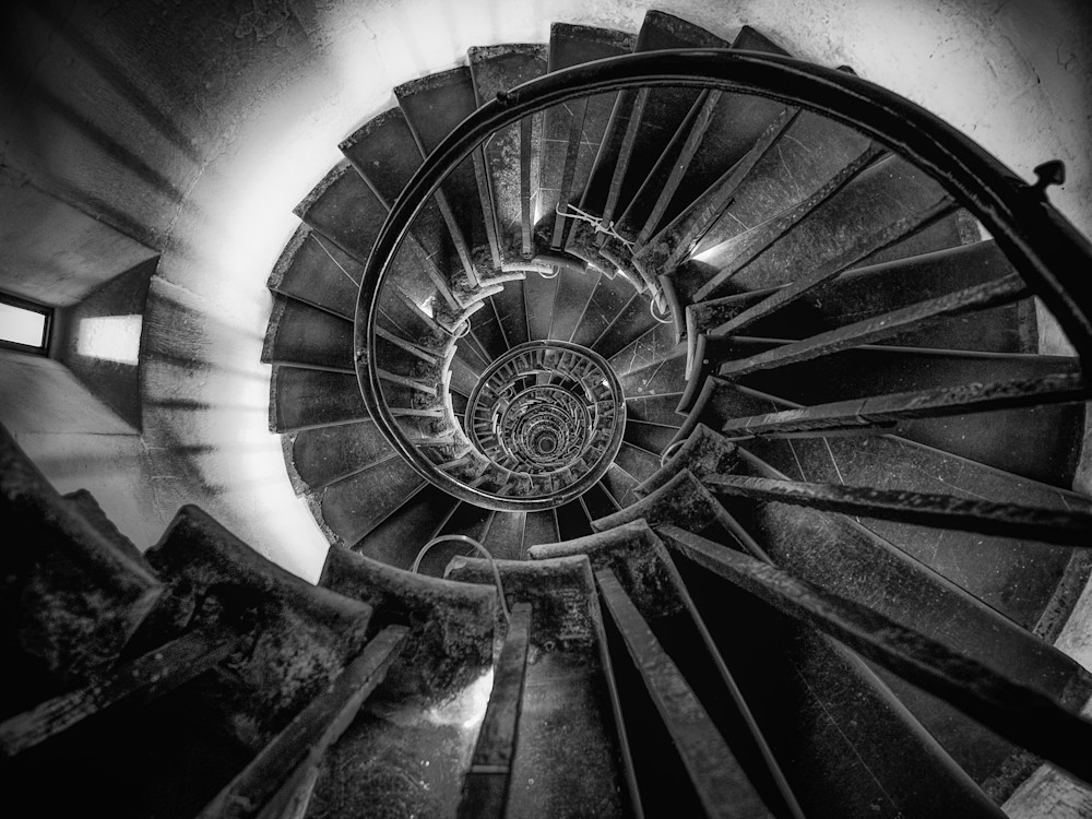 The Spiral Staircase | Black and White London Photography
