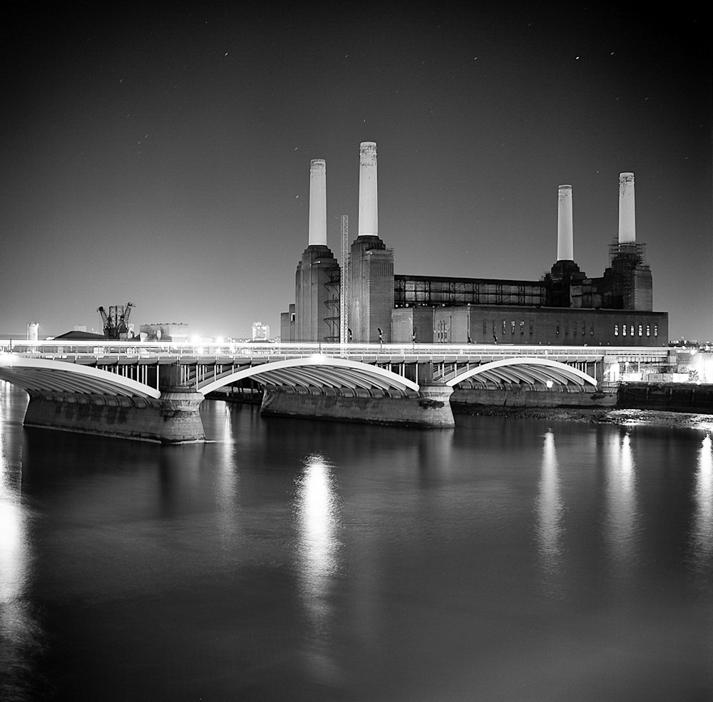 Starlit Battersea | Black and White London Photography