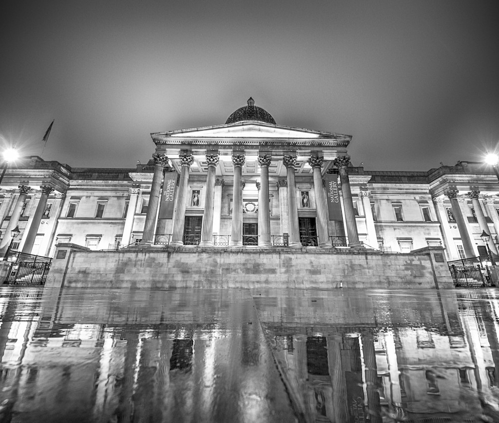 National Gallery Down Low | Black and White London Photography