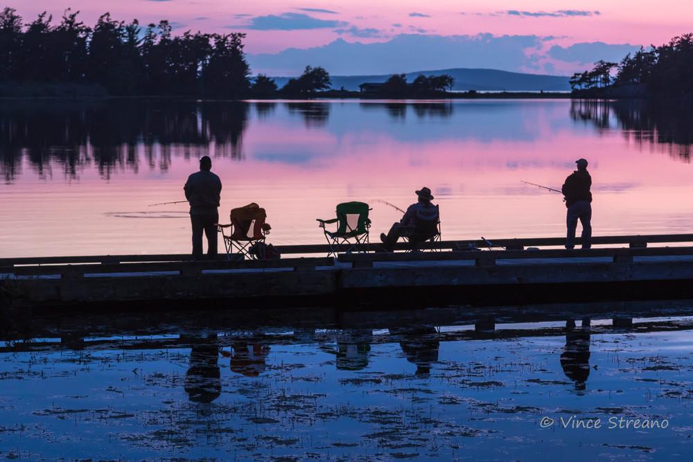 Fine art prints of fishermen on Cranberry Lake