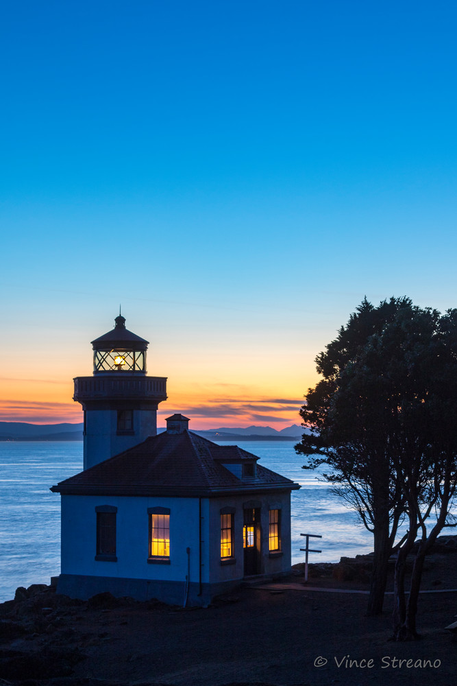 Fine art prints of the Lime Kiln State Park lighthouse.