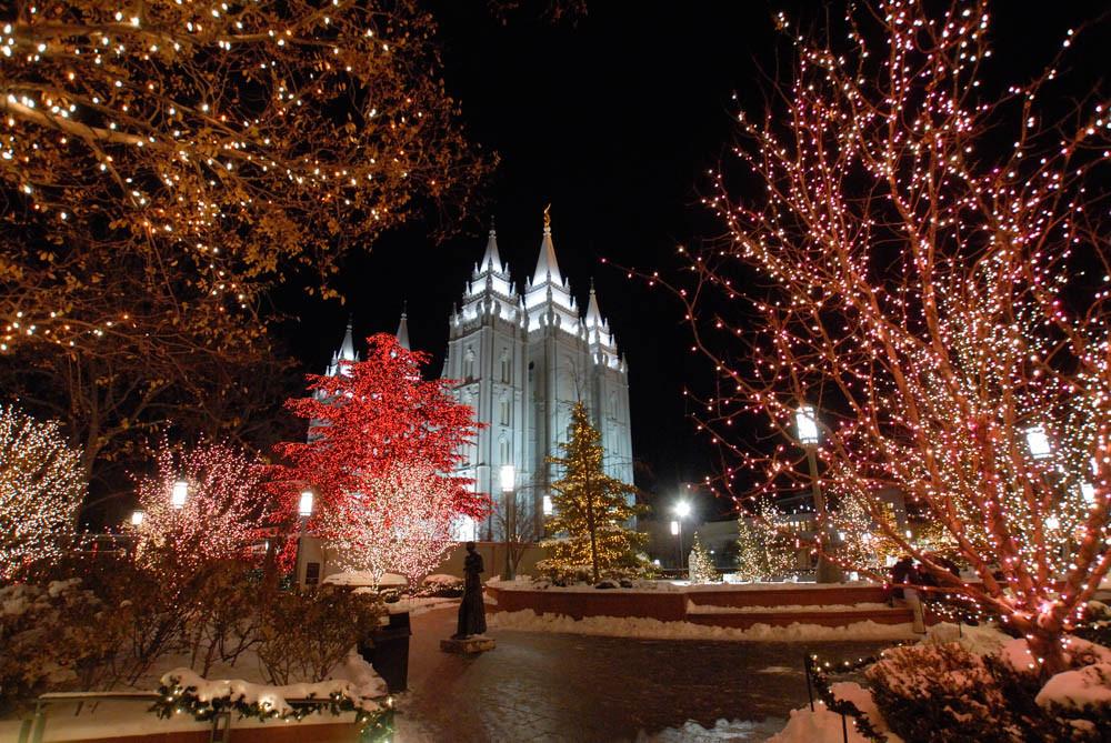 Temple Square Salt Lake City Christmas Lights.Salt Lake City Temple Christmas Lights