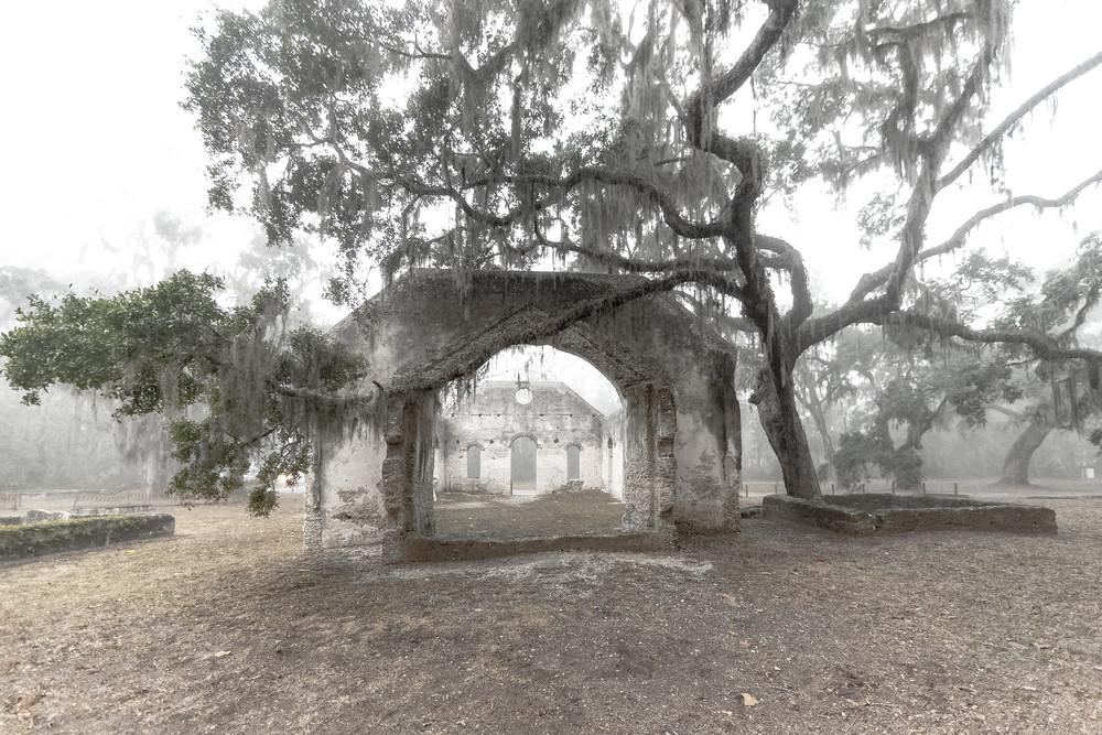 Foggy Church Ruins