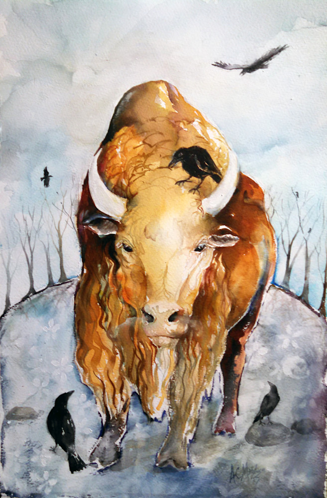 Buffalo And Crows Art | Bright Spirit Studio