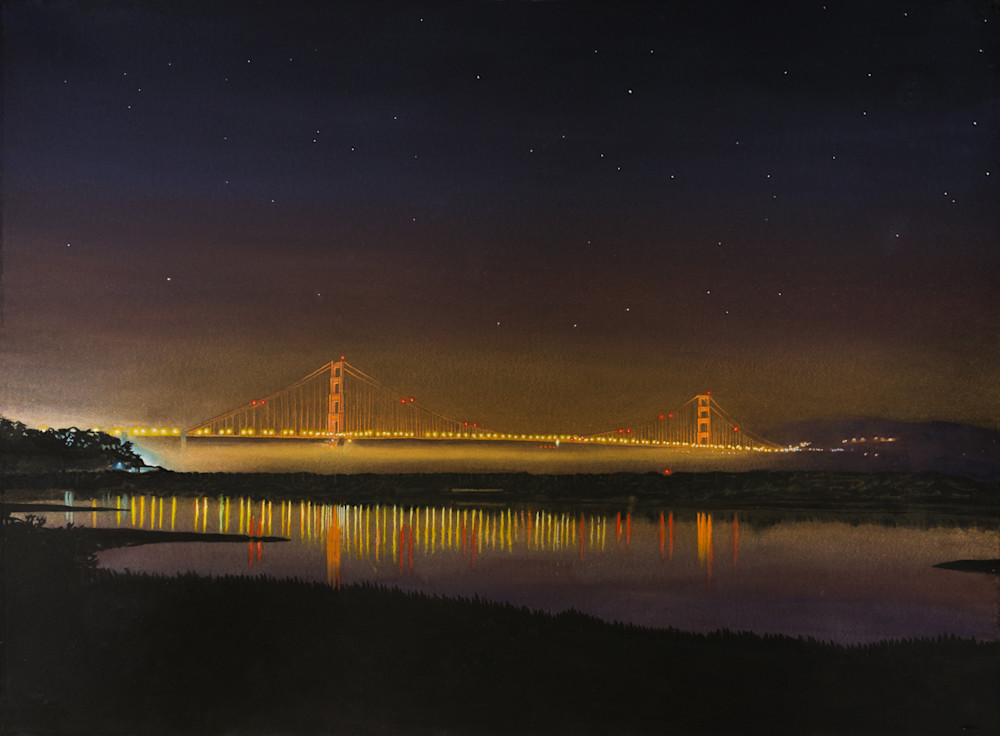Golden Gate Bridge at Night from Crissy Field Marcs
