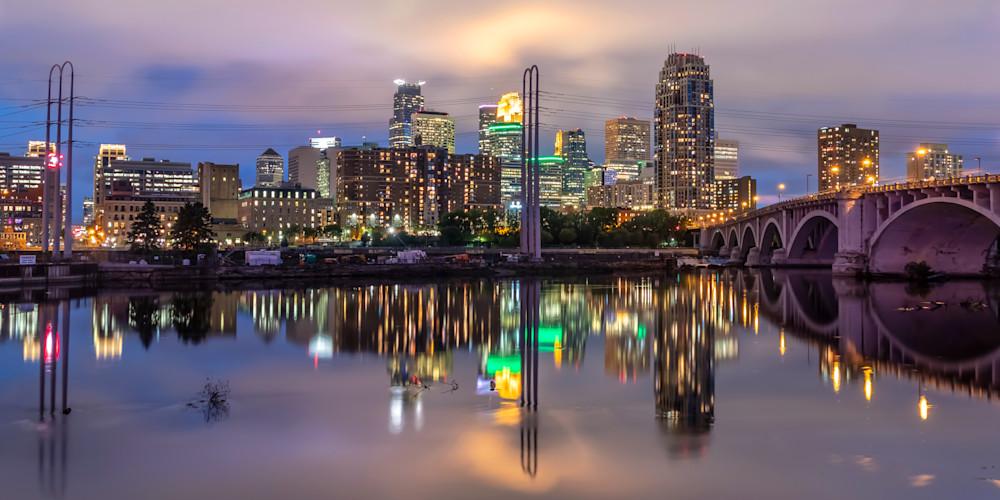 Minneapolis Skyline Reflection 2 - MPLS Skyline | William Drew