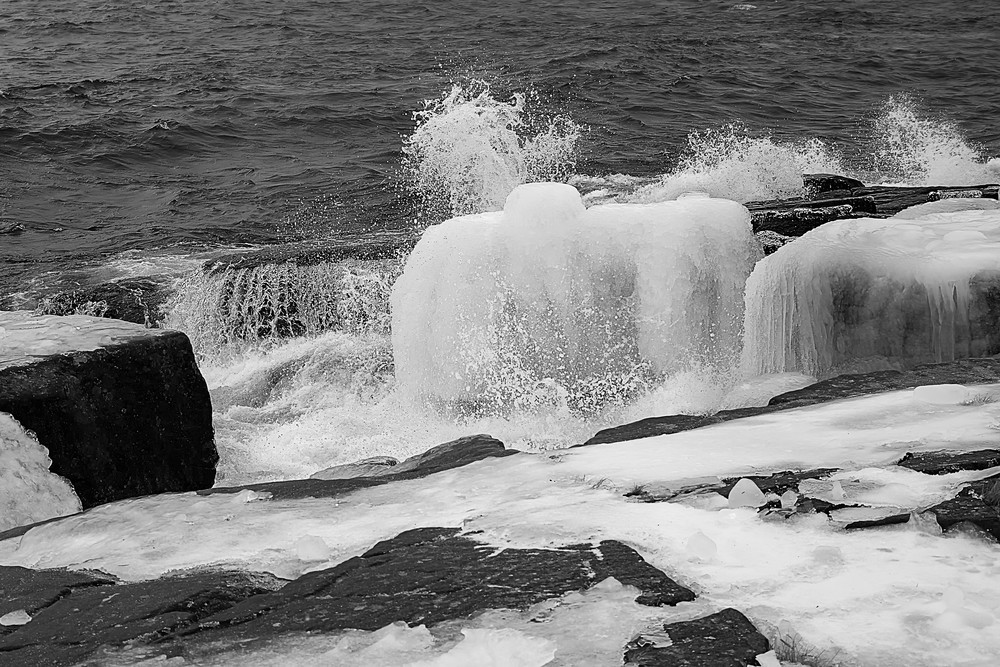 Lake Superior Cold Shower Photography Art | Dale Yakaites Photography