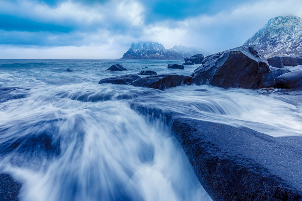 Stormy Uttakleiv Beach