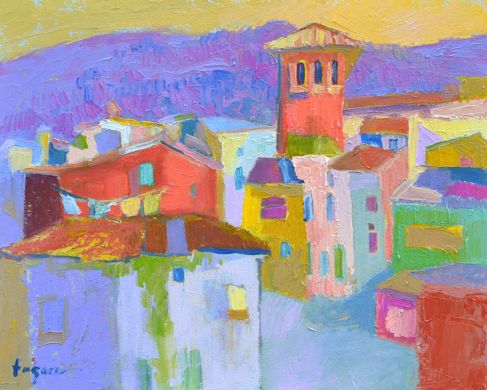 Tuscan Village Painting, Fine Art Print by Dorothy Fagan