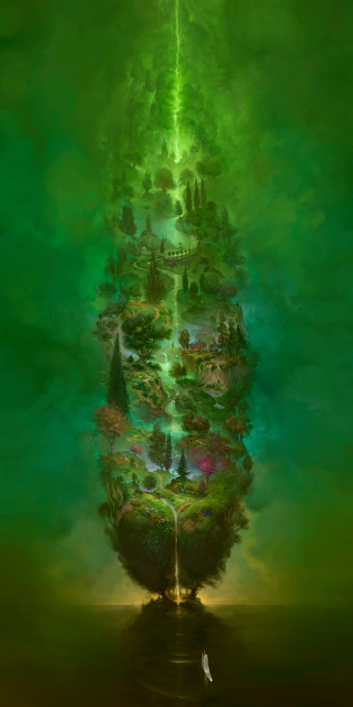 """BIG GREEN TREE of LIFE,"" by Burton Gray, an epic landscape"