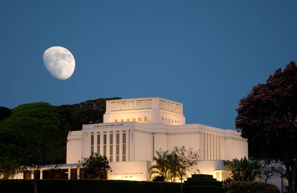Laie Temple - Moonrise
