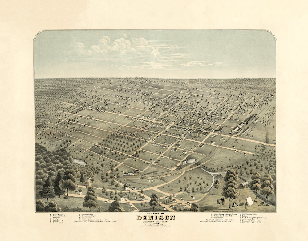 Denison Map - 1876