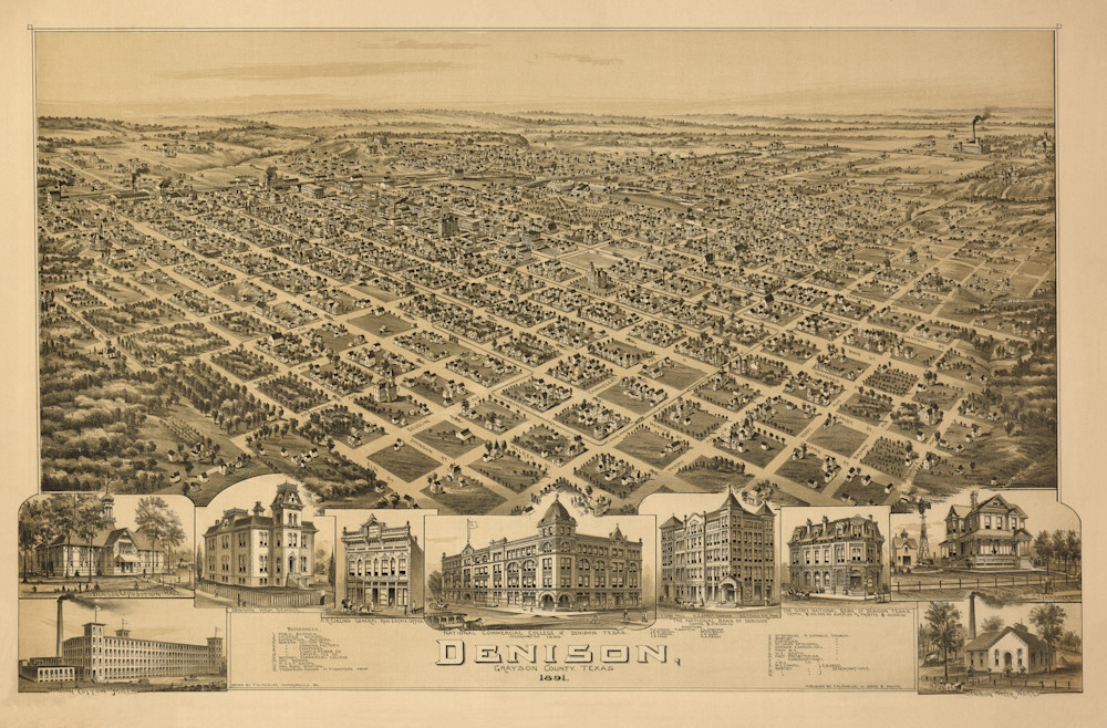 Denison Map - 1891