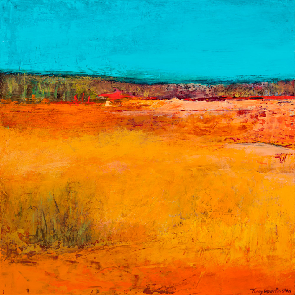 Abstract Landscape Painting Of The Oregon Outback