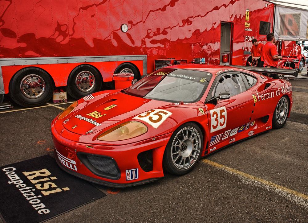 Ferrari Pits photograph by Richard Stefani