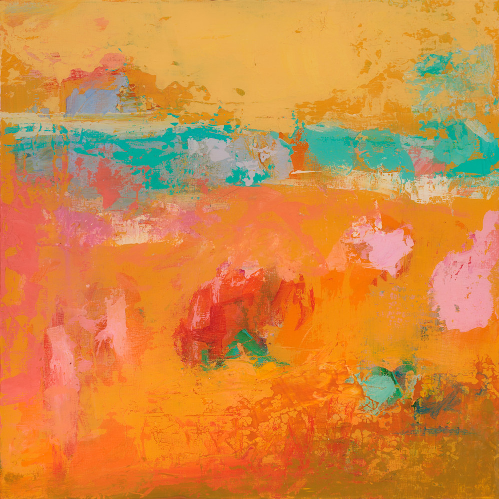 Bright Colored Santa Fe Abstract Landscape Painting