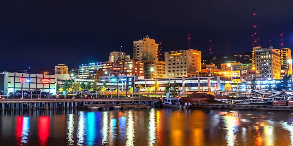 Downtown Duluth at Night - Duluth Photos | William Drew