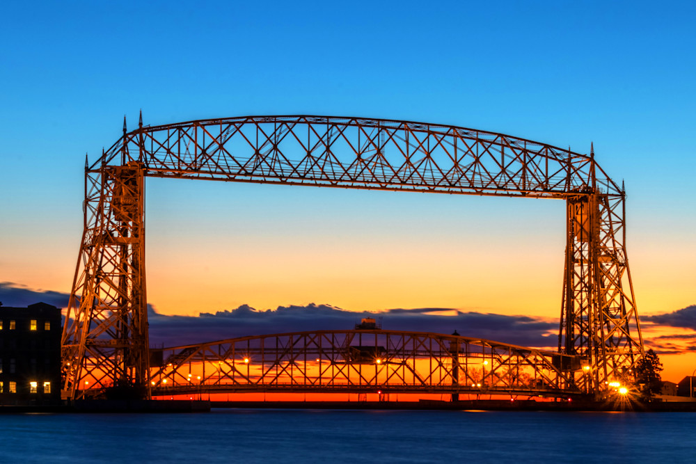 Duluth Lift Bridge Dawn - Bridge Photos | William Drew