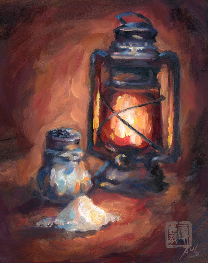 Salt And Light. Christian art - Oil painting by Ans Taylor. Prints, shirts etc available.