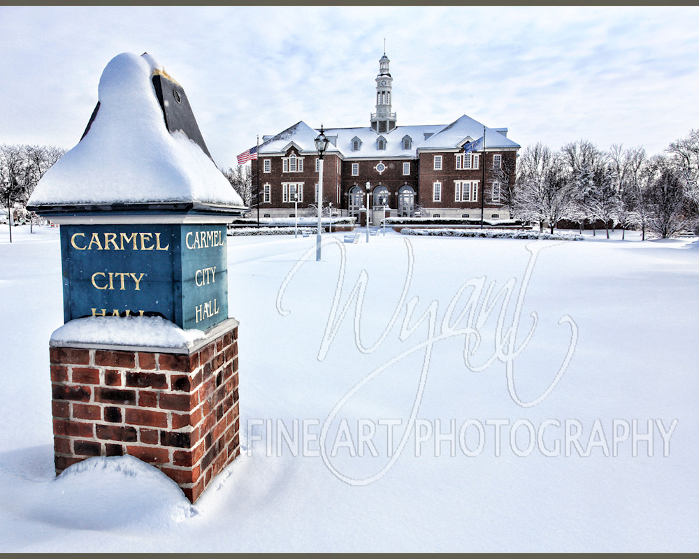 Snow Covered City Hall: Shop Fine Art Photography | Jim Wyant, Master Craftsman (317)663-4798