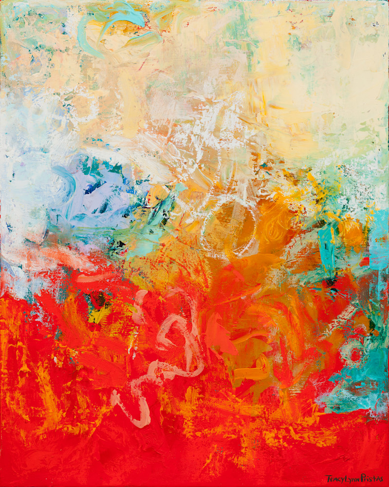 Red Abstract Original Painting