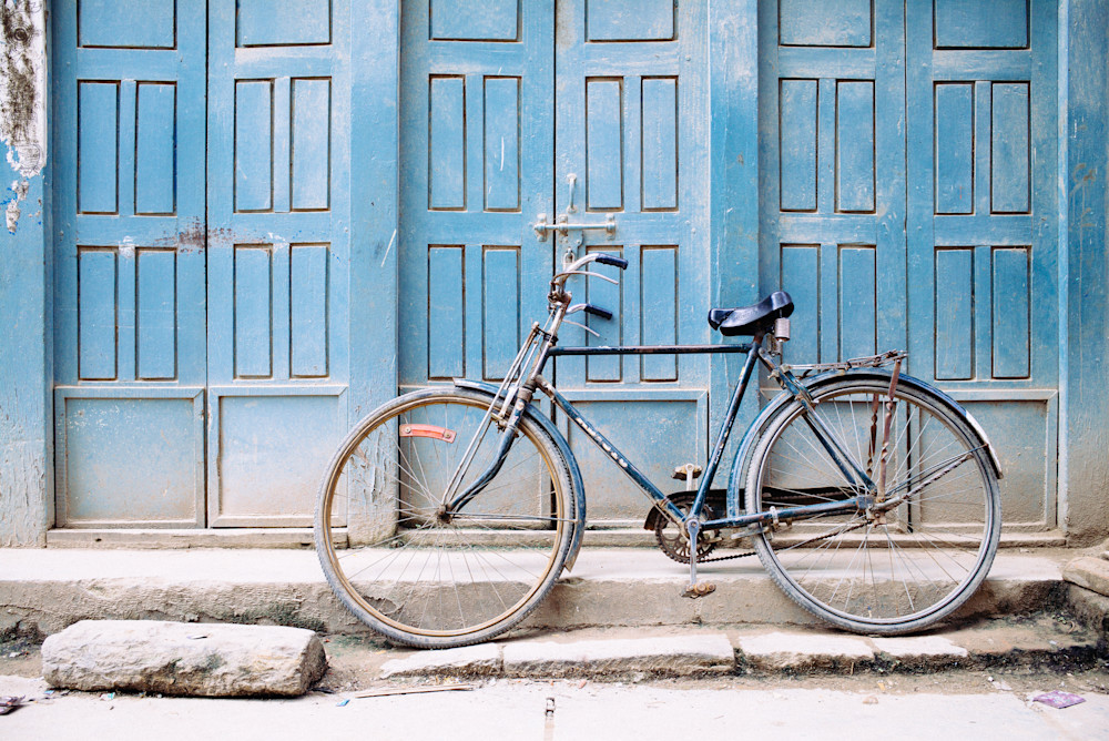Kathmandu Cycle of Blue | Kirby Trapolino Fine Art Photograph