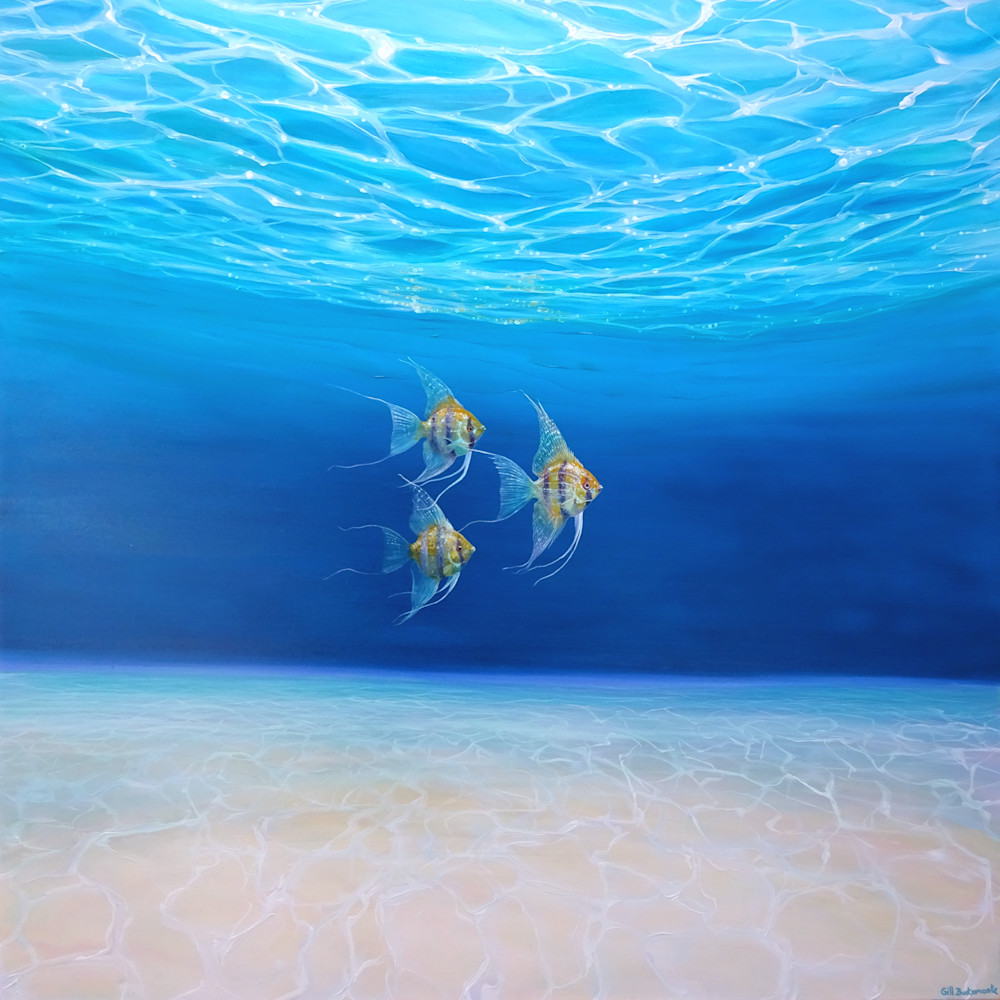 under the ocean painting with fish