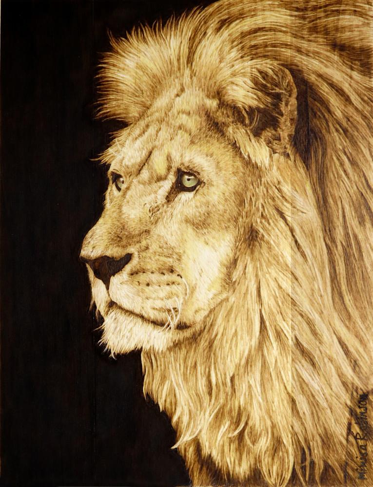 African Lion Print Art | Minisa Pyrography