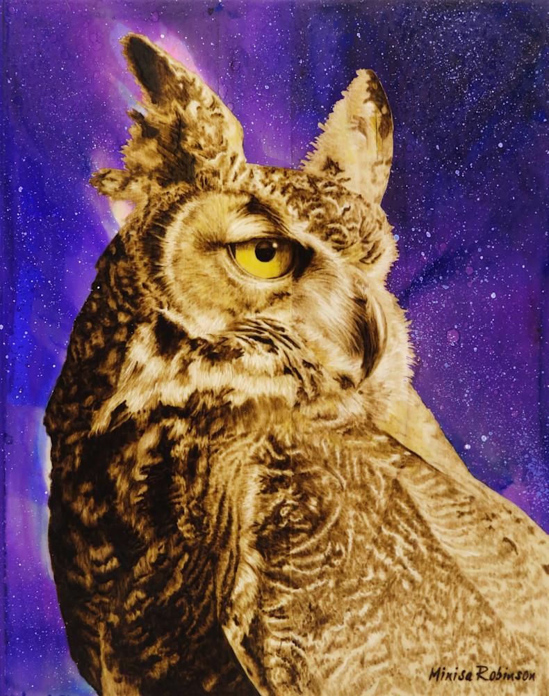 Owl Print Art | Minisa Pyrography