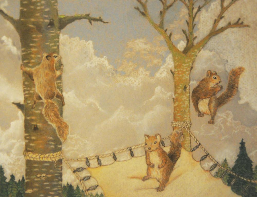 Squirrel Trampoline - Print