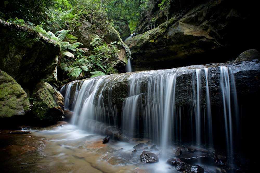 Trinity Falls - Blackheath Govetts Leap Blue Mountains National Park NSW Australia | Limited Edition Waterfall
