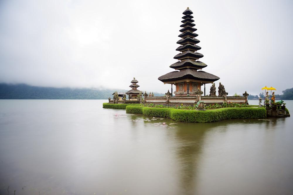 Temples Serenity - Pura Ulun Danu Beratan Lake Bedugul Bali Indonesia
