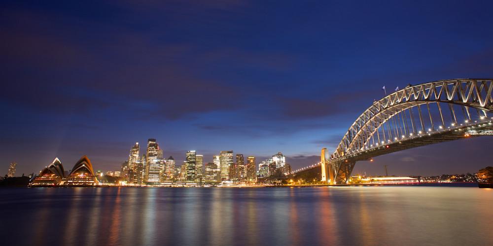 Sydney Lights - Sydney Harbour Circular Quay NSW Australia | Nighscape