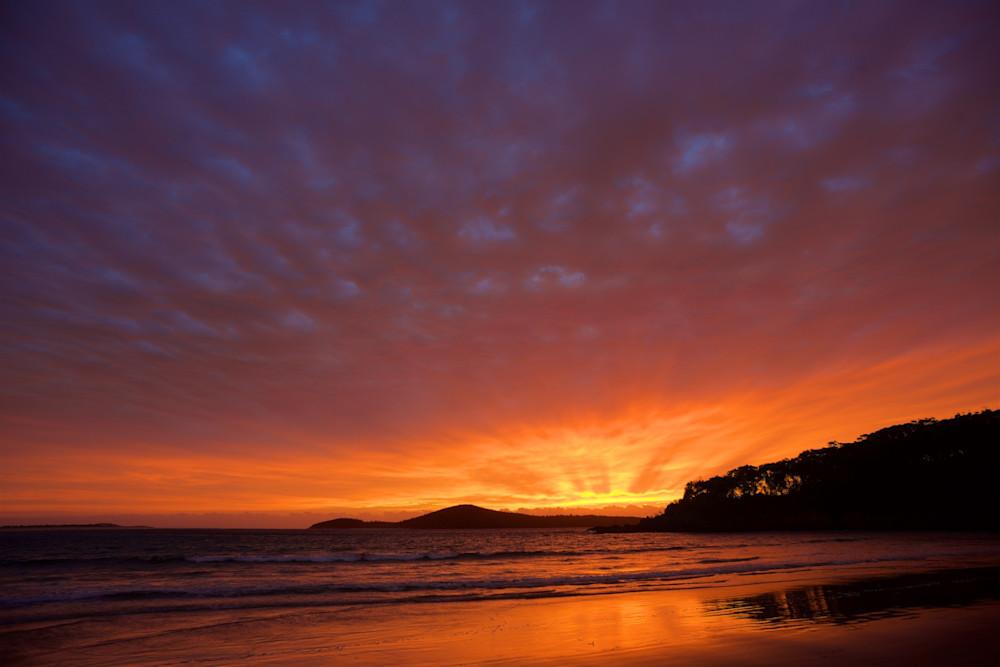 Sunburst - Fingal Bay Beach Port Stephens NSW Australia   Sunrise