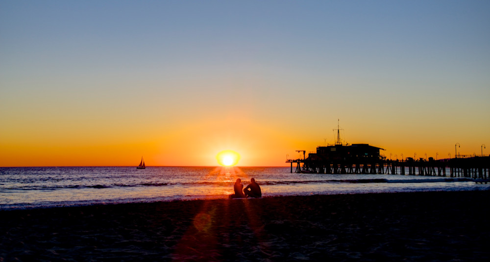 Santa Monica Sunset - Los Angeles California USA Beach | Sunset