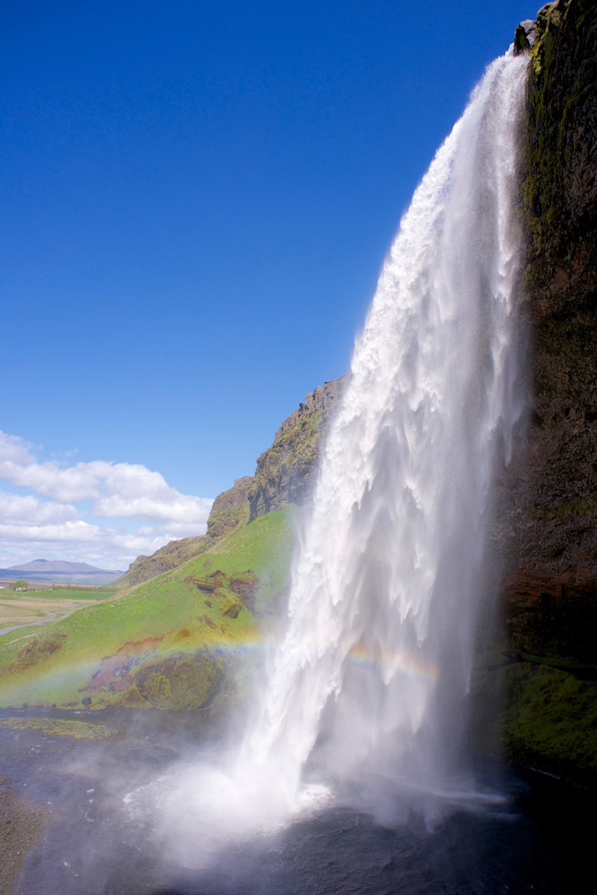 Rainbow Falls - Seljalandsfoss Waterfall Near Reykjavik Iceland | Waterfall