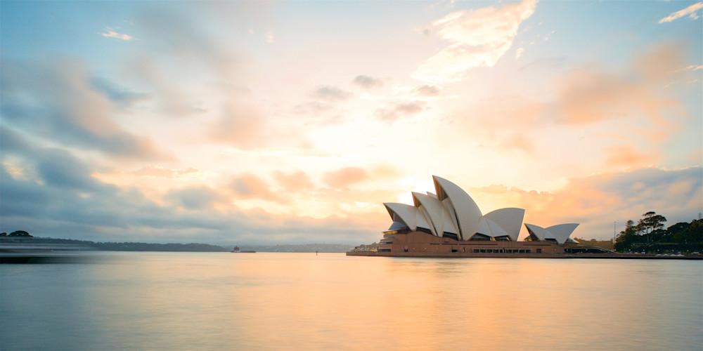 Opera Sunrise - Sydney Opera House Circular Quay Benelong Point NSW Australia | Sunrise