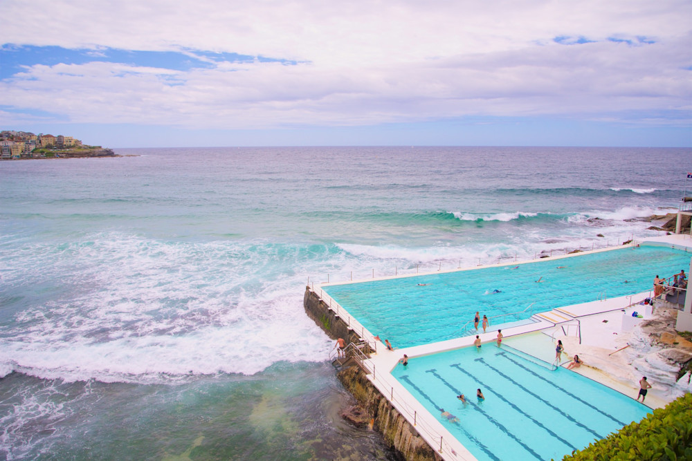 Overview Of Icebergs - Bondi Beach Sydney Australia
